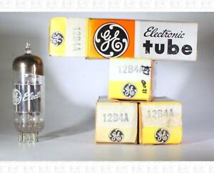 General Electric GE 12B4A 12B4 Vacuum Tubes Made In USA NOS Lot Of 4 +Box