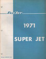 1971 Sno-Jet Snowmobile Super Jet Models Parts Manual (690)