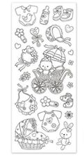 Paper Craft Stickers Scrapbooking Color Art New Baby Girl Bottle Rattle