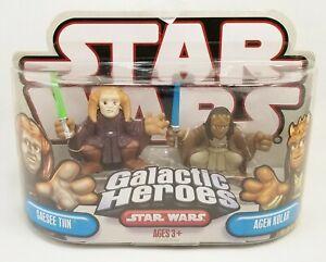 Star Wars Galactic Heroes Saesee Tiin & Agen Kolar Mini Figures Hasbro NRFP