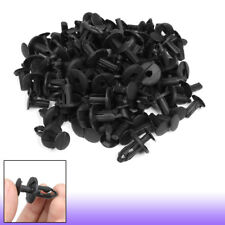 100pcs 30mm Long Plastic Push Fasteners Rivets Fender Clips 20mm Head for Car
