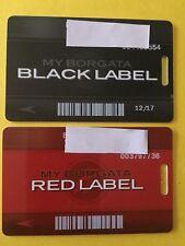 Set Of 2 Borgata Hotel Casino Black And Red Card Atlantic City, Nj (Last Issue)