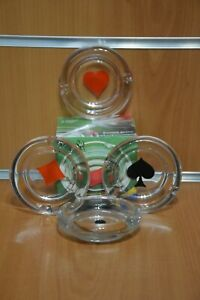 "Portacenere Posacenere ""Poker Set"" Bormioli Made in Italy Gadget Originale"
