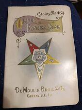 Vintage Old DeMoulin Bros. & Co. Catalog No. 464 Order Eastern Star