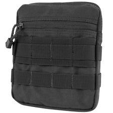 Condor MA67 BLACK General Purpose Pouch MOLLE Zipper Utility Bag Mesh Sleeve
