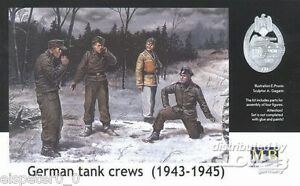 WWII Allemand Équipage Du Char Master Box Figurines 1:3 5, Art.n ° MB3507