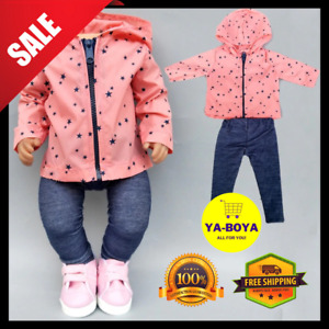 Doll Outfit Clothes for 35 cm 14 inch Baby Doll Born Girl Jacket Coat