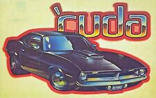 Original Vintage 'Cuda Iron On Transfer Plymouth Barracuda