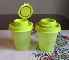 Tupperware  SALT & PEPPER Mini Midget GREEN New  Tupper Minis K seal MARGARiTA