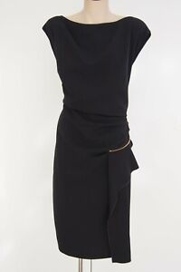 INC  Black Pleat Waist Zip Detail Dress  Size 16  BRAND NEW WITHOUT TAGS