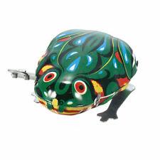 Vintage Wind Up Animal Jumping Frog Retro Classic Clockwork Tin-Toy