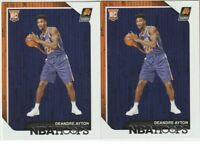 DEANDRE AYTON RC LOT(2) - 2018-19 PANINI NBA HOOPS #248 PHOENIX SUNS ROOKIE MINT