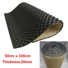 50x100cm Car Deadening Proofing Hood Sound Shield Insulation 20mm Acoustic Foam