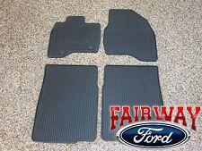 15 thru 16 Explorer OEM Genuine Ford Black Rubber All Weather Floor Mat Set 4-pc