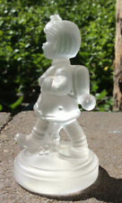 Hummel Goebel Crystal School Girl w Knapsack, Hair Bow Figurine, Mint Condition