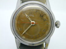 WW2 MILITARY LEMANIA CENTER SECOND 192H RUNNING, ALL ORIGINAL GREAT DIAL