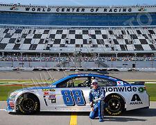 DALE EARNHARDT JR 2016 DAYTONA 500 NASCAR AUTO RACING 8X10 PHOTO