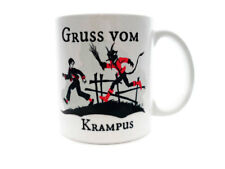 GRUSS vom KRAMPUS Coffee Tea Mug GIFT Christmas Devil Holiday Gothic Demon NEW