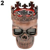 New King Skull Cross Crown 3 Layers Tobacco Herb Spice Grinder Crusher Cinnamon