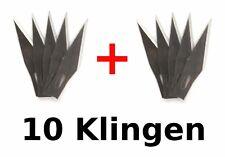 10 Klingen für Messer Modellbau Elektronik Splitter Uhr Präzision Skalpell