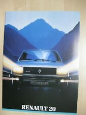 Renault 20 prestige Prospekt brochure Dutch  text 26 pages 1983