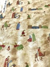 "3 Kings to Bethlehem Christmas cotton quilters fabric per yd 44"" sewing - crafts"