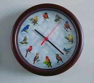 American Birdsong Quartz Wall Clock featuring 12 Popular American Birds    R3