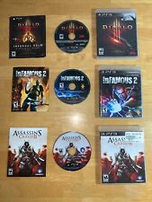 3 PS3 Games Diablo 3 Infamous 2 Assassins Creed 2 Use All Working PlayStation