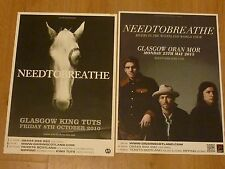 Needtobreathe - Scottish tour Glasgow live music show concert gig posters x 2