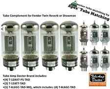 Fender Twin Reverb & ShowmanTube Complement set TUBE AMP DOCTOR Apex matched