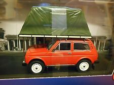 LADA Niva 4x4 1981 red rot Camping Camper Roof Tent Zelt IST295 IXO 1:43