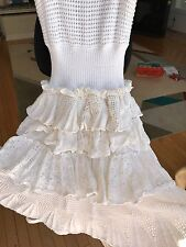 Red Valentino White Flirty Dress Sz.2 Made in Italy