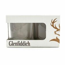 2 Glenfiddich 9cm Whisky Glasses Heavy Broad Base Tumbler Home Bar Pub Gift