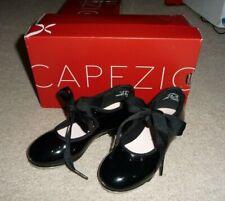 Capezio Black patent leather Tyette tap dance shoes Girls Toddler Kids Size 10