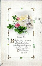 1918 Religious Scripture John 3:1 Behold What Manner of Love Postcard CW