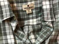 Vintage WOOLRICH Mens Short Sleeve XXL Plaid Shirt  2XL Button Front India label