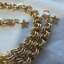 """Lucky Star Gold Tone Necklace 22"""""""