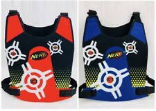 Lot NERF Vests (2) Dart Tag Double Sided Point Target Vest Blue Red FREE SH
