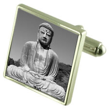 Great Budha Sterling Silver Cufflinks Optional Engraved Box