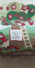 Quilted Throw Blanket By Cracker Barrel Farmers Market Pictures Pockets  50 x 60