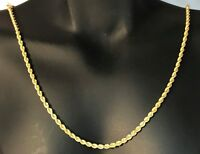 18K SOLID GOLD ROPE CHAIN 2MM (2.40 Gms to 4.15 Gms).. NEW!!