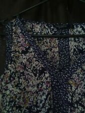 Size 8 Just Jeans Top Sleeveless blue with floral details