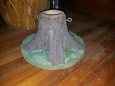Rare Antique Faux Bois Concrete Christmas Tree Stump Stand