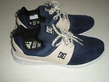 DC Shoes men's 'Heathrow SE' navy, fawn and white sneakers size US13