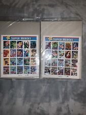 Marvel Comics Super Heroes 41 Cent US Stamp Sheet 20 Stamps - Chapter 1 and 2