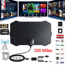New Indoor HD 4K TV HDTV Antenna VHF UHF Fox  Amplifier Bandit 200 Miles 2018