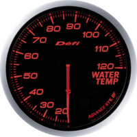 DEFI ADVANCE BF Water Temperature Gauge Red DF10502