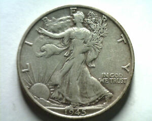 1945-S WALKING LIBERTY HALF EXTRA FINE XF EXTREMELY FINE EF NICE ORIGINAL COIN