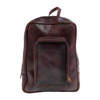 Leder Rucksack BINOAR Echtleder Ziegenleder Fairtrade Backpack Lederrucksack
