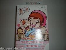 "COOKING MAMA WORLD BABYSITTING MAMA ""EN ESPAÑOL"" DE WII NUEVO"